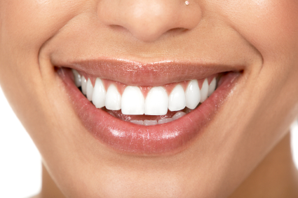 close up woman smiling wearing tip stick