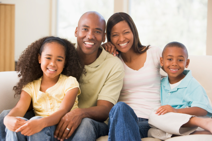 multiple generation african american family